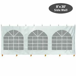 8x30and039 Window Sidewall Block-out Vinyl Canopy Tent Enclosure Side Clip Attachment