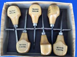 6 Vintage Walnut Hollow Quality Wood Working Carving Tools Chisels