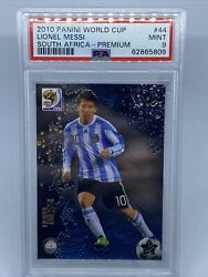 2010 Panini Fifa World Cup South Africa Lionel Messi 44 Psa 9 Metalized Regrade