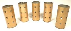 Vintage Zenith Radio Parts 5 Speckled Gold Tube Shields 3 And 3/4 X 1 And 5/8