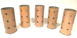 Vintage Zenith Radio Parts 5 Copper-colored Tube Shields 3 And 3/4 X 1 And 5/8