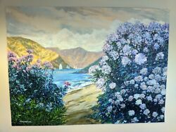 Frank Caldwell Original Pastel Oil Painting On Canvas