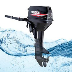 Hangkai 12hp 2 Stroke Outboard Motor Boat Engine W/ Water Cooling Cdi System Us
