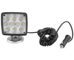 Cequent 54209-018 Rectangular Led Work Light W/coiled Cord And Magnetic Base