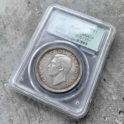 1950 Canada 1 Dollar Silver Coin One Dollar - Pcgs Pl 66 - Old Green Holder