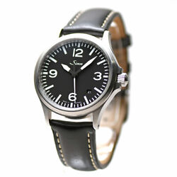 Sinn 556.a Men's Watch Automatic Leather Belt Black Dial Round Good Boxed