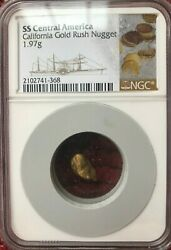 Ss Central America Ssca Shipwreck 1.97 Gram Gold Nugget From Second Recovery