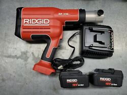 Ridgid Propress Model Rp330 Crimper With 2 Batteries And Charger