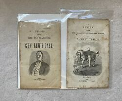 1848 Lewis Cass And 1848 Zachary Taylor Presidential Campaign Biographies 2