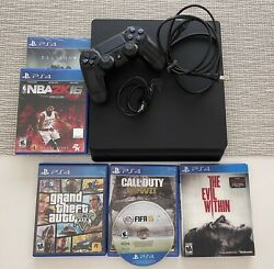 Sony Playstation 4 Slim 1tb Ps4 Console Controller Games Grand Theft Fifa Nba