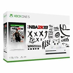 Xbox One S 1tb Console Nba 2k19 Bundle Basketball Video Game Systems Very Good