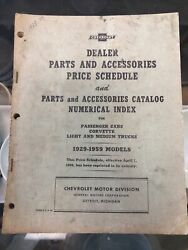 Vintage 1929-1959 Chevrolet Master Parts And Accessories Catalog