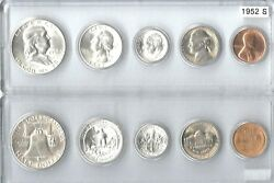 1952-s Us Mint Set - 5 Choice Brilliant Uncirculateed Coins In A Whitman Holder