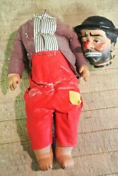 Rare Vintage Emmett Kelly's Willie The Clown Doll Baby Barry Toy Nyc
