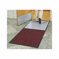 Clean Stride Cleated Contamination Control Mat- Charcoal, 36.5in. X 92.5in.
