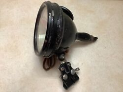 1920and039s 30and039s Vintage Old Sol Spotlight Lamp Light Old Truck Car W Bracket Mirror