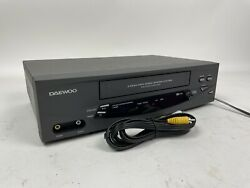 Daewoo Dv-t5dn Vcr 4 Head Vhs Video Cassette Player Recorder Tested W/ Cables