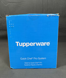 Tupperware Quick Chef Pro System Time Saver Chopper Blade Whisk Basket Blue