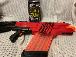 Nerf Rival Gun Blaster Khaos Mxvi-4000 Red With Magazine And 80 Rounds Lot