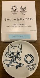 Tokyo Olympics 2020 Mascot Competition Pose Commemorative Mini Plate Official