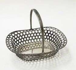 Antique Sterling Silver - Most Beautiful Basket/modernistic Look/theodore Starr