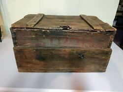 Rare Antique Stroh Strohand039s Wood Beer Case Over 100 Years Old