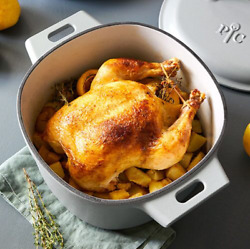 Pampered Chef 6-qt. Enameled Dutch Oven Free Shipping
