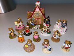 Wee Forest Folk Hansel And Gretel Bears Witch's House Tiny Teddies Set Of 12 Lot