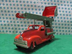 Rare - Gescha Vintage Tin Toy Pickup Truck Tin - Made In W.germany 1950s