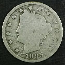 1895 5c Liberty Head V Nickel Good Coin Free Combined Shipping R