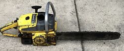 Vintage Mcculloch Model Pro Mac Promac 55 Chainsaw With Bar