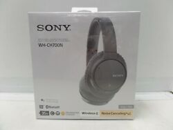 New Sealed Sony Wireless Noise Canceling Headphone Wh-ch700n/hm Bluetooth Gray