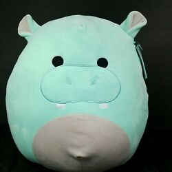 Squishmallow Hank The Hippo Large Plush Pillow Kellytoy Green New W/ Tags 18