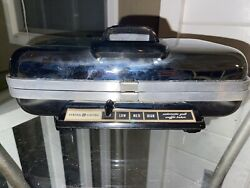 Vintage General Electric Ge Waffle Iron Baker Grill Chrome 34g42 Rare Clean