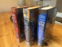 G.r.r Martin A Game Of Thrones Clash Of Kings Set Uk Hb 1st/1st