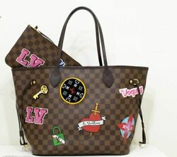 Louis Vuitton Neverfull N40049 Damier Ebene Canvas 2018 Limited W/ Pouch Auth
