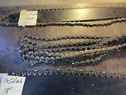 Mcculloch Chainsaw Bar And Chain Lot