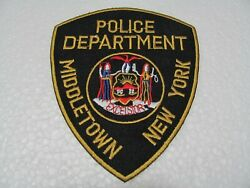Patch - Police Dept. Middletown New York, Cm 10x12 - Iron On