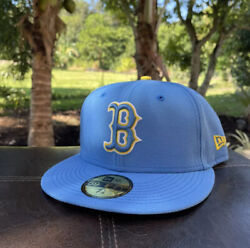 Boston Red Sox City Connect Cap Hat 5950 Fitted Size 7 1/8 Boston Marathon
