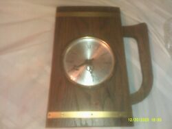 Vintage Lebanon Supply Co. Wooden Beer Stien Shaped Wall Hanging Clock