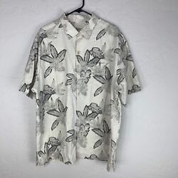 Tommy Bahama Original Fit Silk Button Up Island Style Floral Shirt Men Size Xl