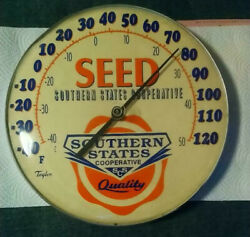 Southern States Cooperative Seed Thermometer Taylor Quality 12 Round Vintage Rar