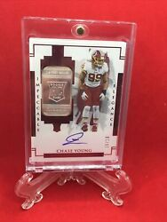 2020 Impeccable Fotl Elegance Chase Young Rookie Silver Bar On Card Auto Ssp/19