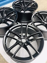 20-21 Toyota Supra Factory Oem Forged Wheels Rims 19 Set Staggered Black Satin