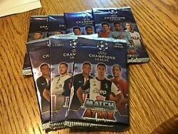 7 Uefa Champions League Trading Cards 2019-20 36 Soccer 5ct Packs Freeship