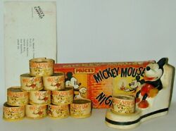 Mickey Mouse Seated Candle Holder + Full Original Box 10 Candles Price's Uk 1934