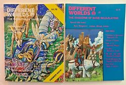 Different Worlds Magazine Issue 1and2 Choasium Premiere 1979 Vg/exc Rpg Role Game