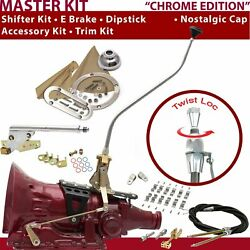 Th200 Shifter Kit 23 Swan E Brake Cable Clamp Clevis Trim Kit Dipstick For D32e5
