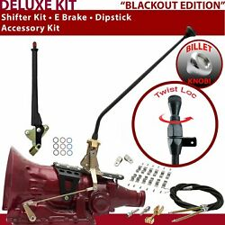 C4 Shifter Kit 23andampquot E Brake Cable Clamp Clevis Trim Kit Dipstick For F7d