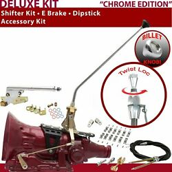 700r4 Shifter Kit 23andampquot E Brake Cable Clamp Clevis Dipstick For E8c13